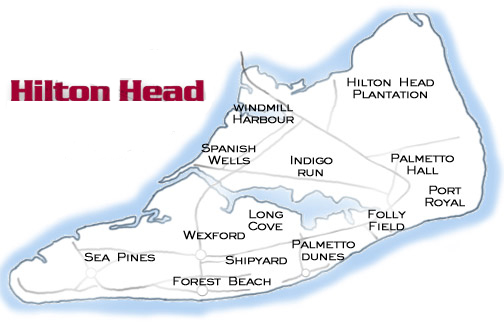 Ed Brown Hilton Head Island Real Estate - North forest beach hilton head map